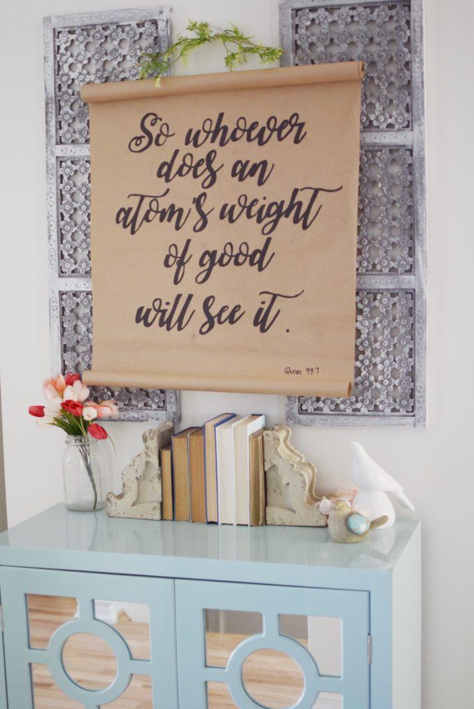 DIY farmhouse style scroll