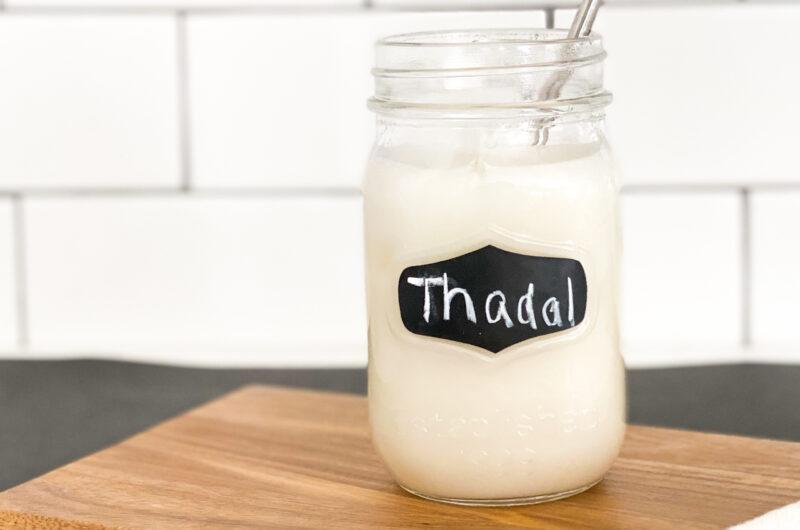 Spiced Almond Milk or Sindhi Thaadal