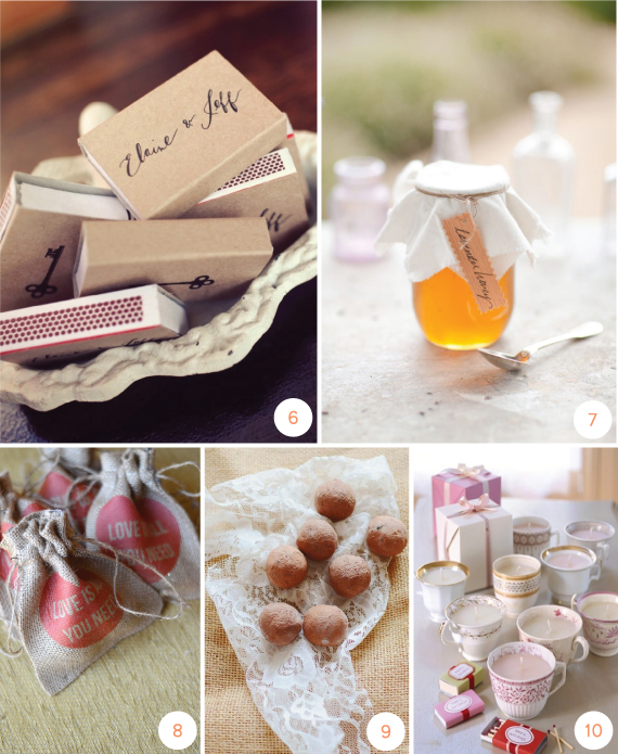 10 DIY Wedding Favors  Julep
