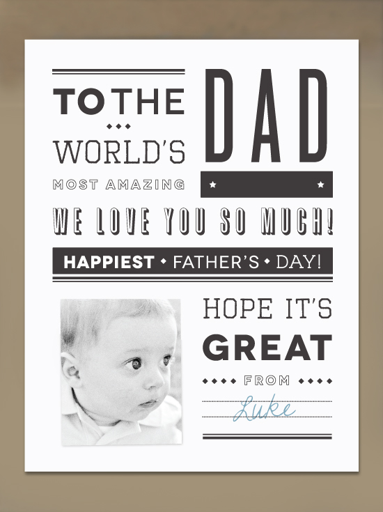 Newspaper Father's Day Card
