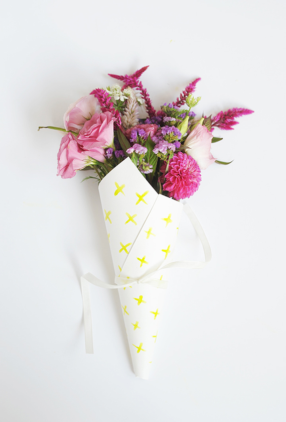 DIY Watercolor Flower Bouquet Wraps Julep