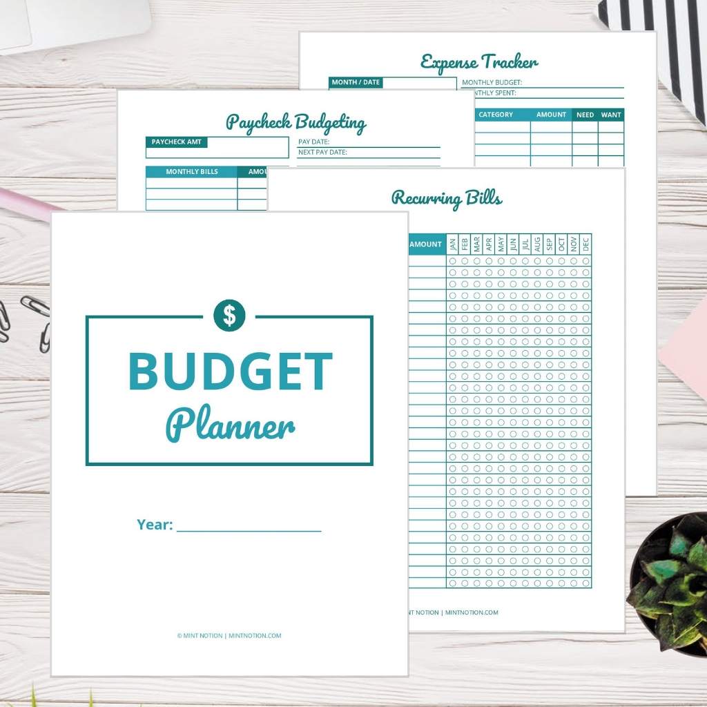 Printable Budget Planner Template Get Your Money Under
