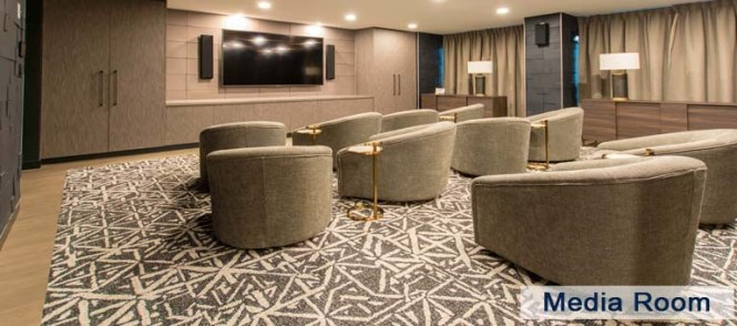 Media Room In Luxury Apartments For Yorkville Downtown Toronto