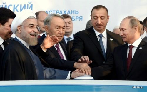 lham Aliev, Hassan Ruhani, Vladimir Putin, Nursultan Nazarbayev, Gurbanguly Berdymukhamedov