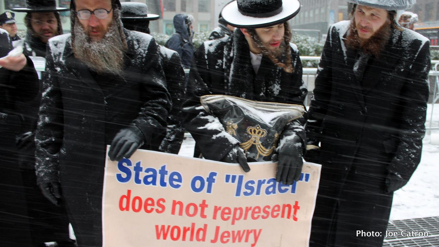 Demonstrators Netanyahu