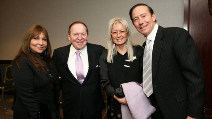 Pro-Israel philanthropist Adam Milstein (far right) with Sheldon and Miriam Adelson and Milstein's wife, Gila. (Photo: Facebook/Adam Milstein)