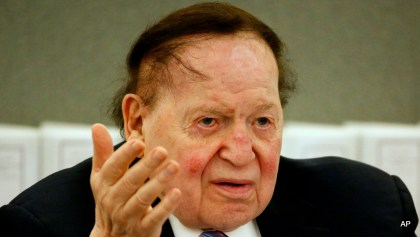 Las Vegas Sands Corp. Chairman and CEO and neoconservative bank-roller extraordinaire Sheldon Adelson.