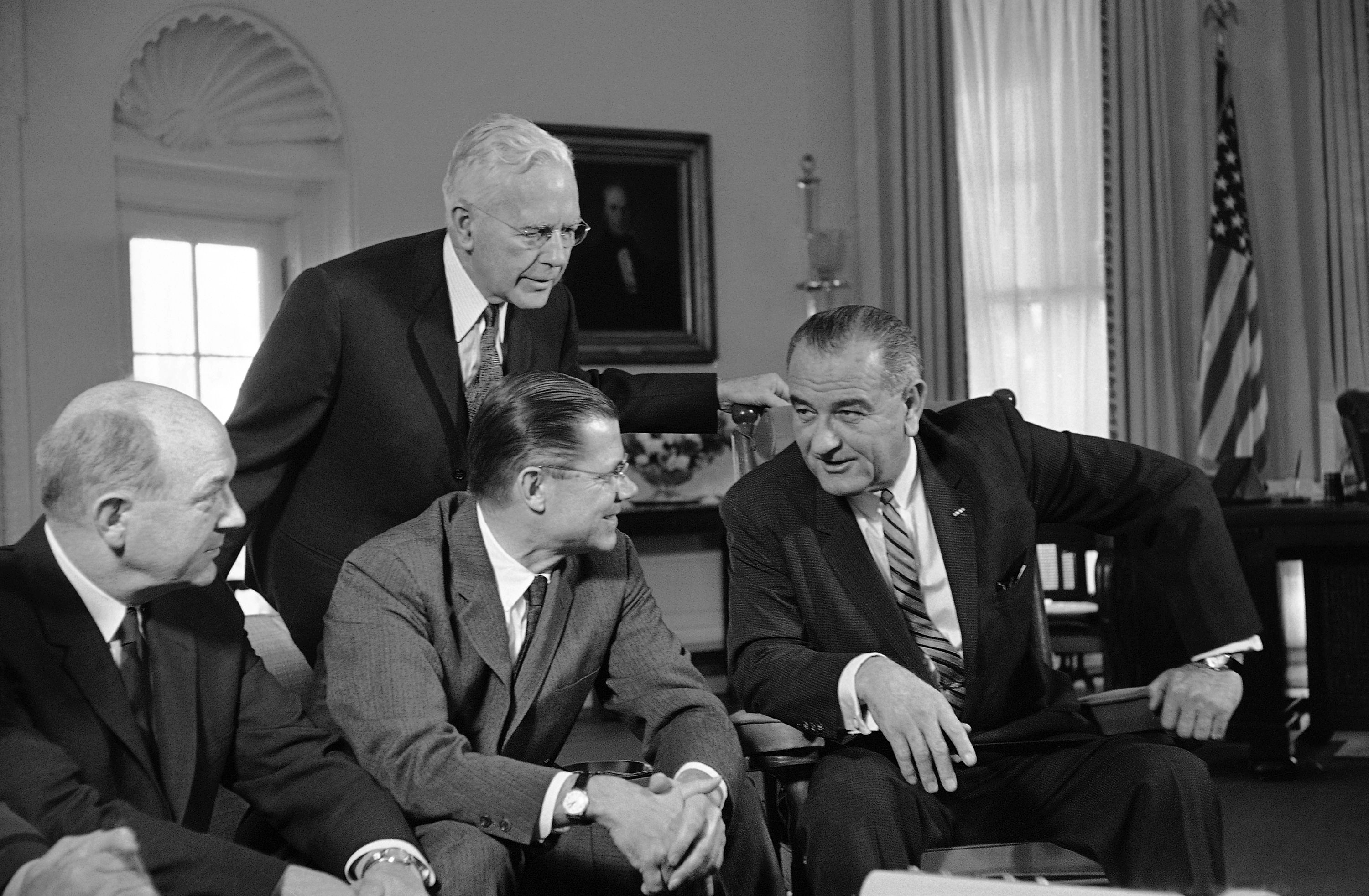 Image result for lbj and secretary of defense mcnamria