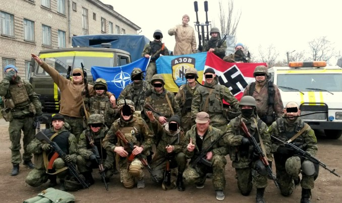 Picture of Azov Battalion eastern in Ukraine.