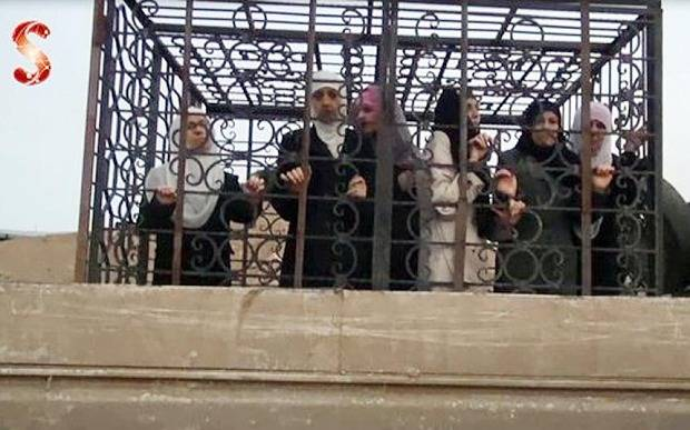 "Image: BBC's ""US-backed rebel commander"" heads a faction that includes the terrorist Jaysh al-Islam faction who caged civilians and used them as human shields outside of Damascus. The US insists that Syria and Russia must negotiate with such organizations and that such organizations should play a role in Syria's future."