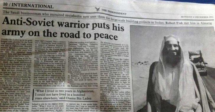 The Independent newspaper ran this story on Osama bin Laden on December 6, 1993.