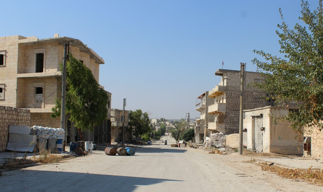 Arriving in Bani Zaid, walking down one of the main streets. (Photo by Vanessa Beeley)