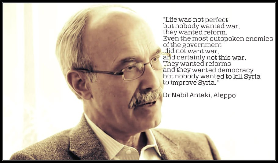 Quote taken from the Be Curious TV interview with Dr. Nabil Antaki. (Courtesy of Vanessa Beeley)
