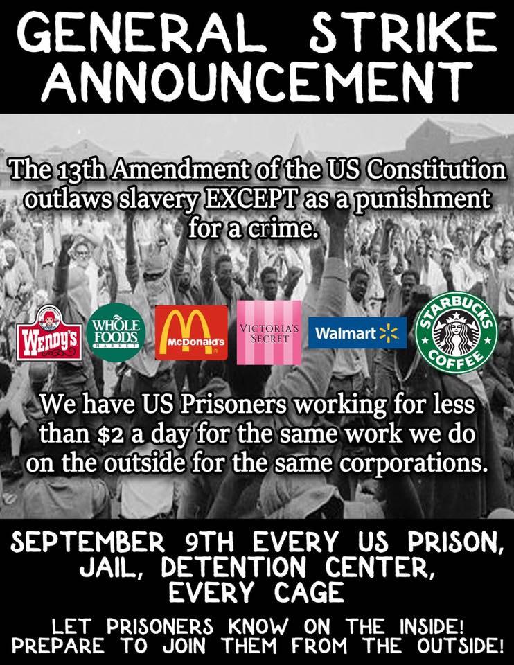 General Strike Announcement, Sept 9 2016