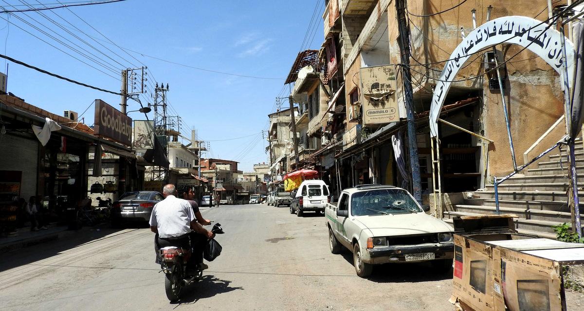 Life on the streets as I entered Madaya on June 13, 2017. (Photo: Eva Bartlett/MintPress News)