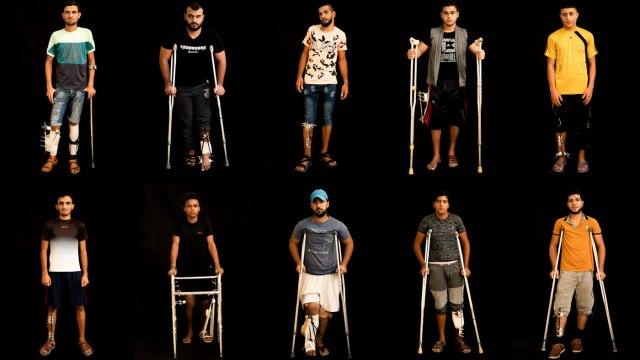 Portrety rannych w Palestynie