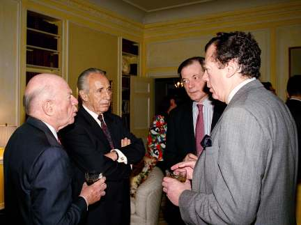Shimon Peres Edgar Bronfman Mega Group