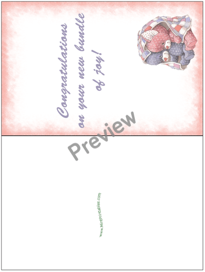 Printable New Baby Congratulations Card For Twins A Boy