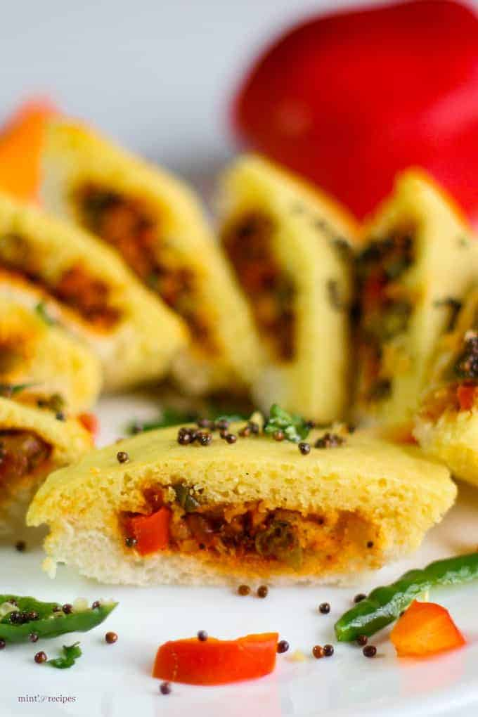 Bread Dhokla Sandwich Recipe
