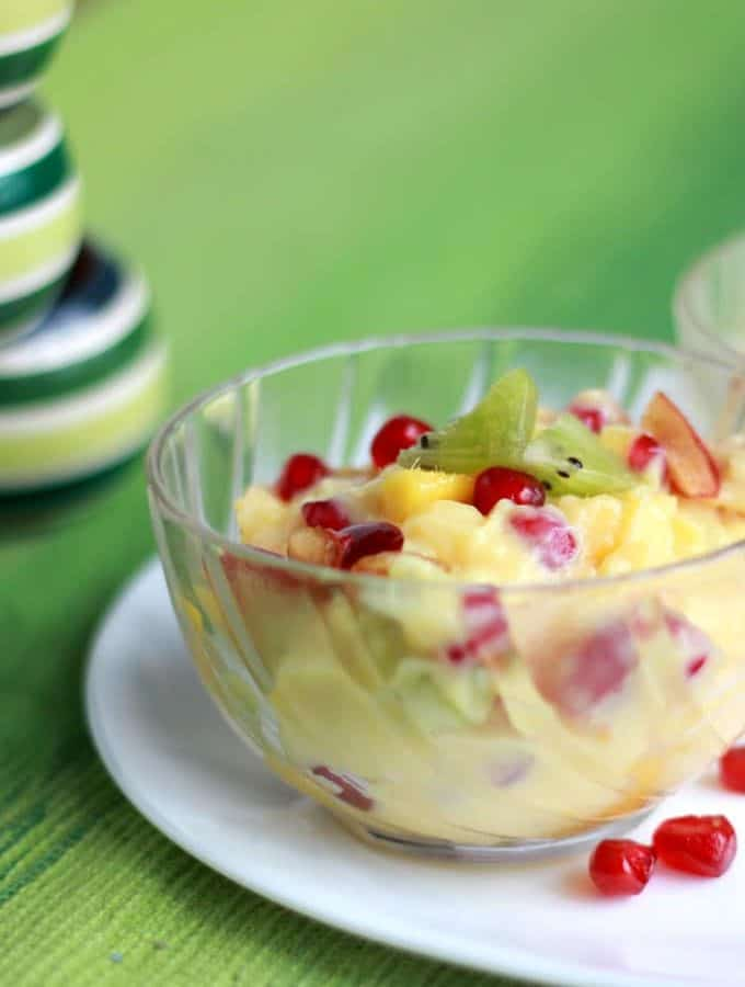 How To Make Easy Fruit Custard Recipe-Indian Fruit Salad Recipe