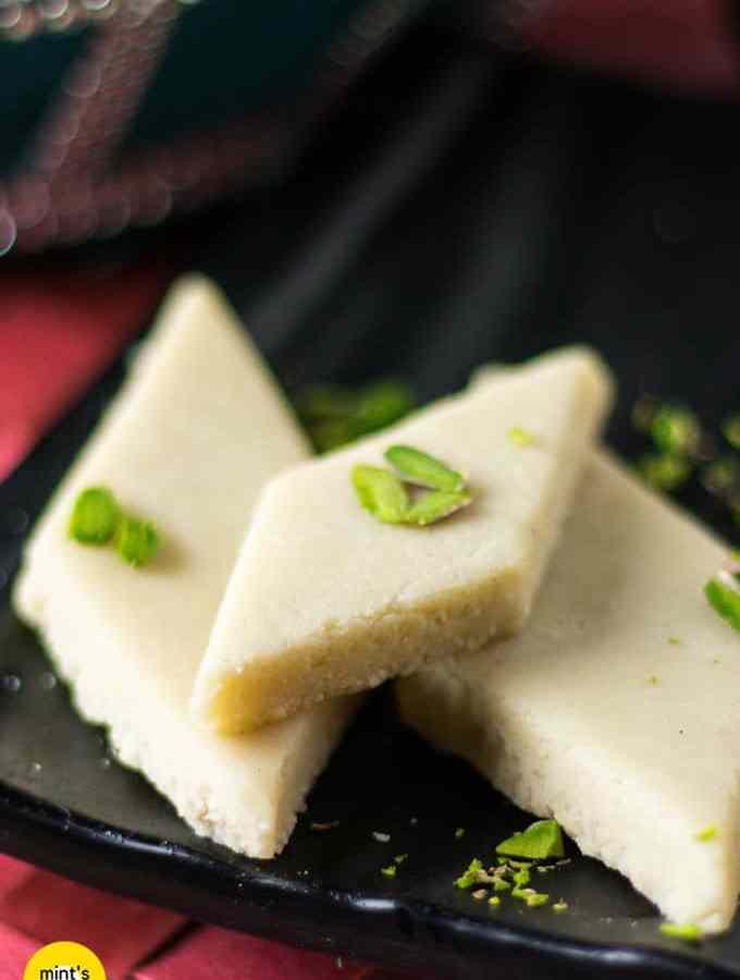 Homemade Kaju Katli Recipe