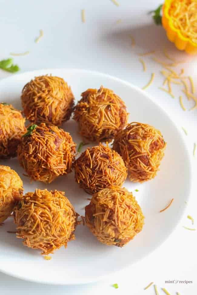 Paneer Vermicelli Balls Recipe | A quick and easy recipe | www.minstrecipes.com