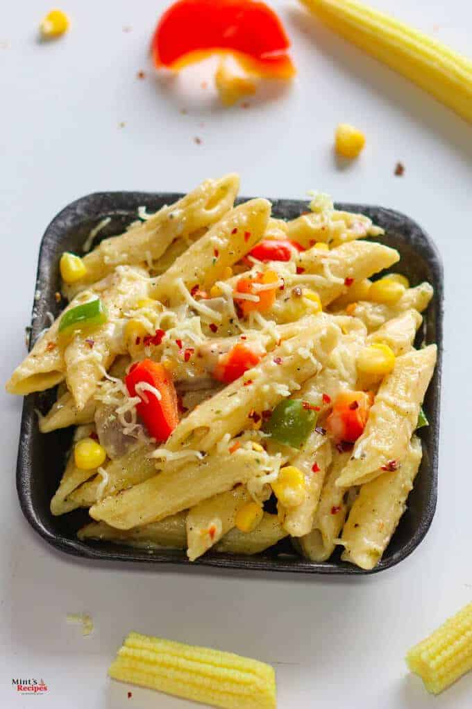 white sauce pasta recipe hindi