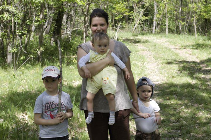 Cristina Lincu si copiii