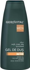 gel de dus Wild 3 in 1 Gerovital men