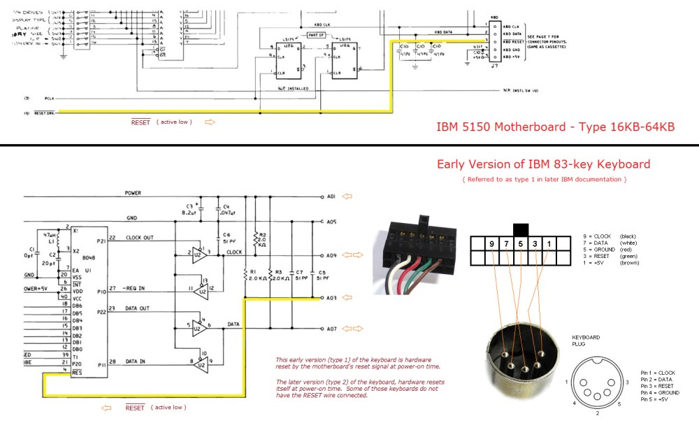medium resolution of  see the relevant parts of the circuit diagram of both motherboard and keyboard