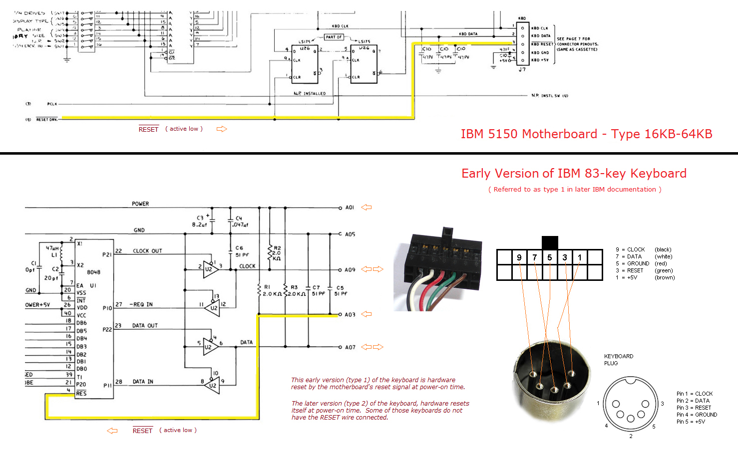 hight resolution of  see the relevant parts of the circuit diagram of both motherboard and keyboard