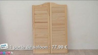 comment transformer une porte saloon en