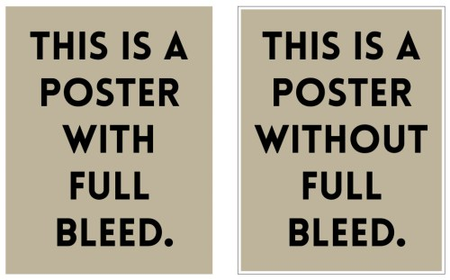 Full Bleed double poster