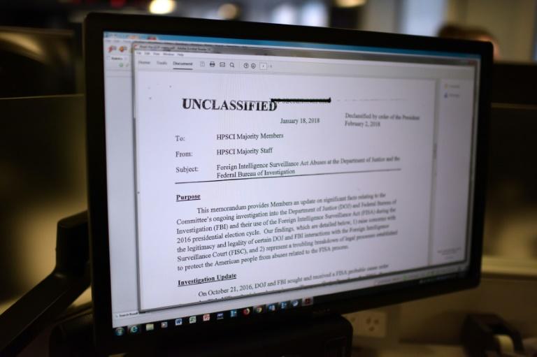 La note controversée qui critique le FBI a été publiée vendredi après avoir été déclassifiée par le président donald Trump