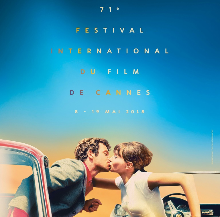 Photo fournie par le festival de Cannes le 11 avril 2018 de l'affiche officielle de la 71e édition du festival inspirée du film