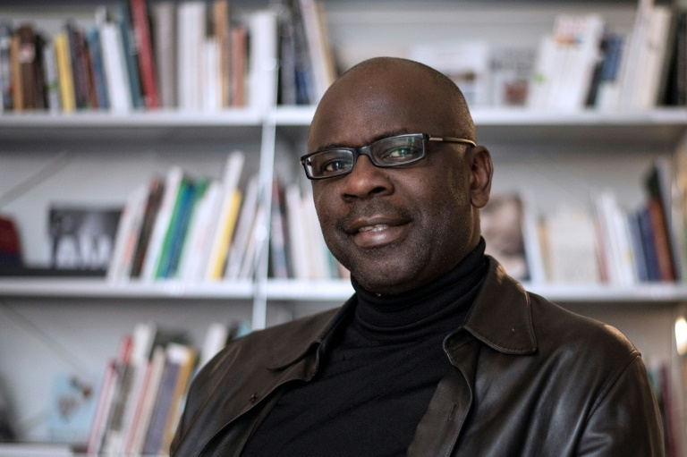 L'ancien footballeur international français Lilian Thuram lors d'un interview à l'AFP, le 4 avril 2018