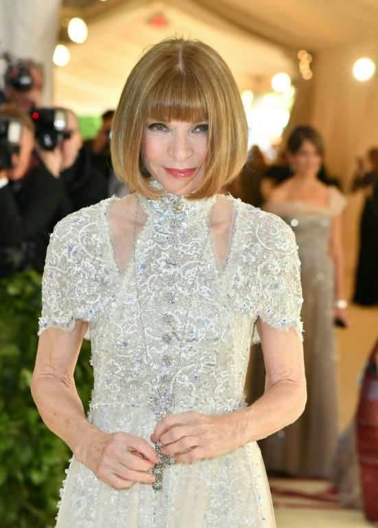 Anna Wintour, rédactrice en chef du magazine Vogue, au gala du Met, le 7 mai 2018 à New York