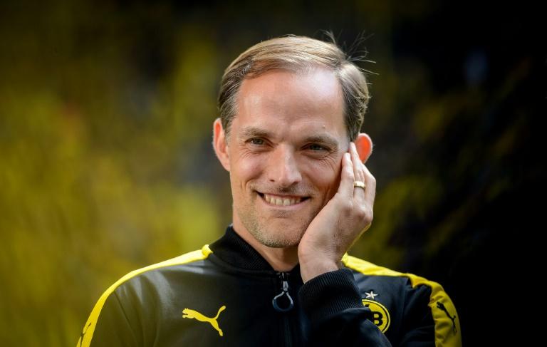 L'Allemand Thomas Tuchel avant un match de Bundesliga de son club le Borussia-Dortmund face au Werder Brême, à Dortmund, le 20 mai 2017
