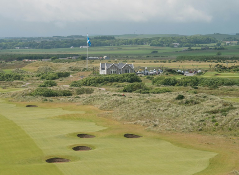 Le parcours de gold Trump International Golf Links, le 25 juin 2016 à Aberdeen, au nord-est de l'Ecosse