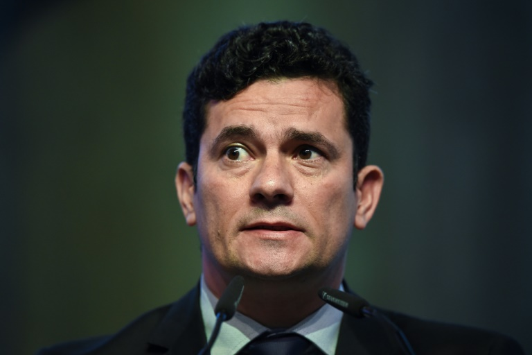 Le juge brésilien anticorruption Sergio Moro, le 30 mai 2017 à Estoril (Portugal)
