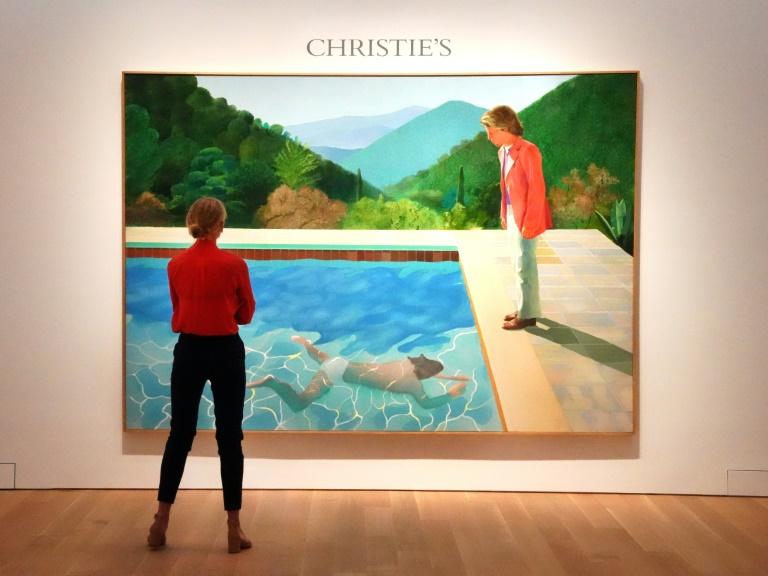Le tableau de David Hockney,