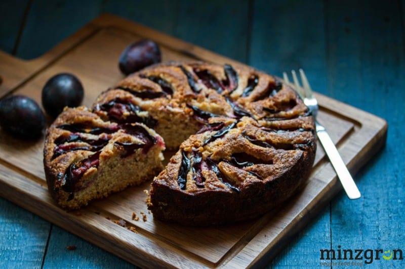 Lila Herbstlaune: veganer Zwetschgenkuchen