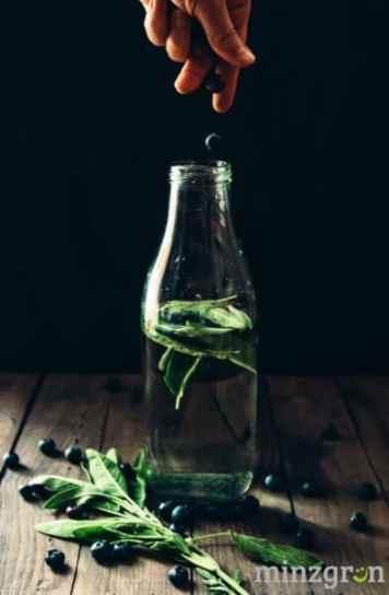 Salbei Heidelbeer Wasser