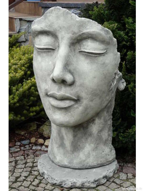 Gesicht Frau aus Steinguss