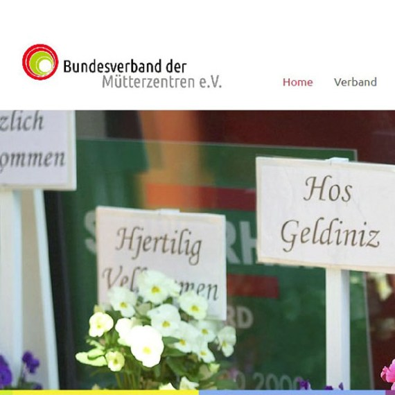 Website Bundesverband der Mütterzentren e.V.