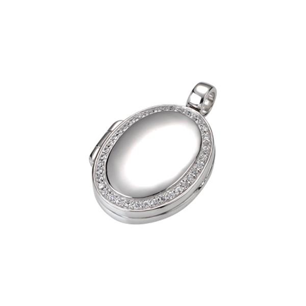 GIORGIO MARTELLO Anhnger ovales Medaillon mit weien Zirkonia 810739