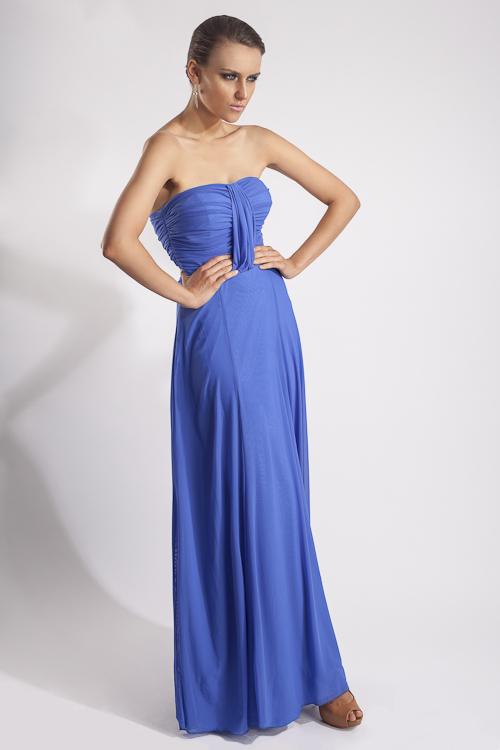 9697efdfc Vestido strapless azul plumbago - Mipa fashion