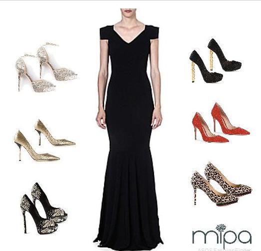 Zapatos para vestido largo formal