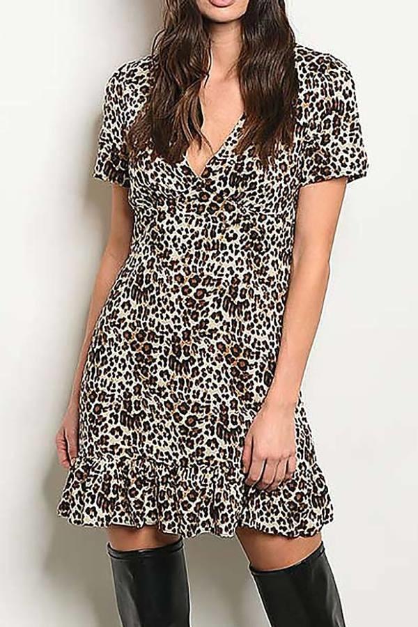 Vestido Animal Print Mipa Fashion