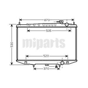 Nissan Radiator, engine cooling 21410VJ600,214103S400